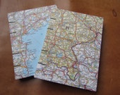 European Map Sketchbook Journal, Small (4.5x6in) Mixed Italy, Slovak Republic, Central Europe, Costal