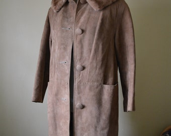 Suede and Sable Car Coat