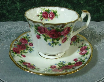 Vintage Georgian Rose Elizabethan Teacup & Saucer - Georgian Rose Elizabethan Teacup - Teacup - Rose Teacup - Elizabethan Bone China
