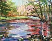 Creek, Original oil painting