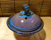 Egg cooker Egg Poacher in our Alberta Blue glaze