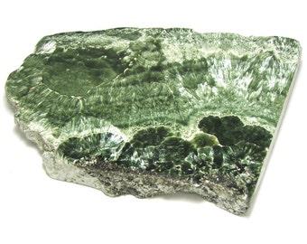 Beautiful Russian Seraphinite Slab Specimen Angel Stone