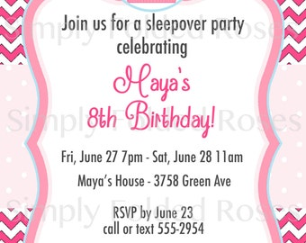 Cupcake themed Birthday Invite, Digital File, Personalized - Print Yourself - DIY