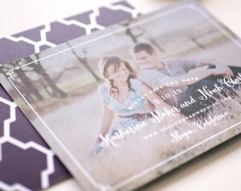 Cedar Photo Save the Date Card - Winery Save the Dates - Destination Photo Save the Date Cards