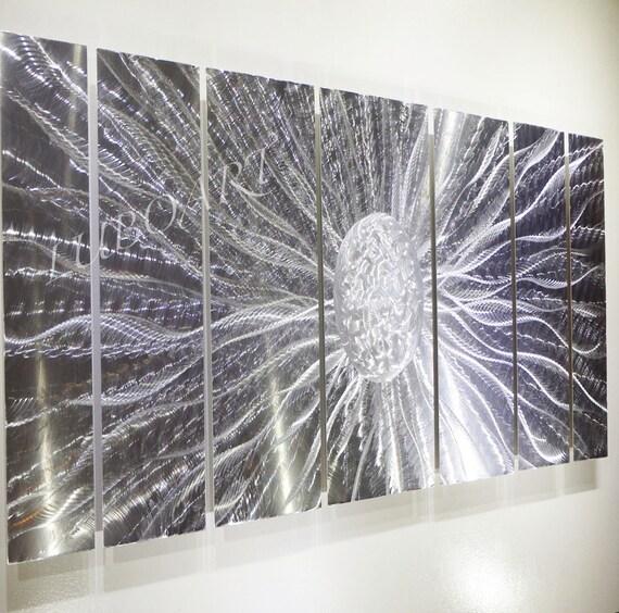 Long Metal Wall Decor : Metal modern abstract wall art drawing quot long sculpture