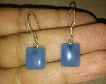 sterling silver blue moon stone earrings