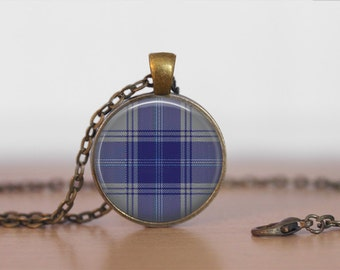 EDWARDS TARTAN Pendant Necklace / Scottish Tartan Jewelry / Ancestral Jewellery / Edwards Clan /  Family Jewelry / Personalized Gift / boxed