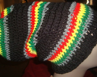 Bob Marley-Rasta-XL Black, Grey, Red, Yellow and Green Dread Hat---AVAILABLE NOW---