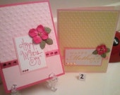 Handmade Mother's day Cards - Happy Mother's Day Handmade Cards - Pink Cards - Yellow Cards - Yellow Mothers Day Cards - Handcrafted Cards