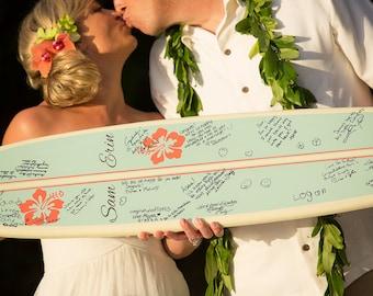 Wedding Signature Surfboard Personalized 3'