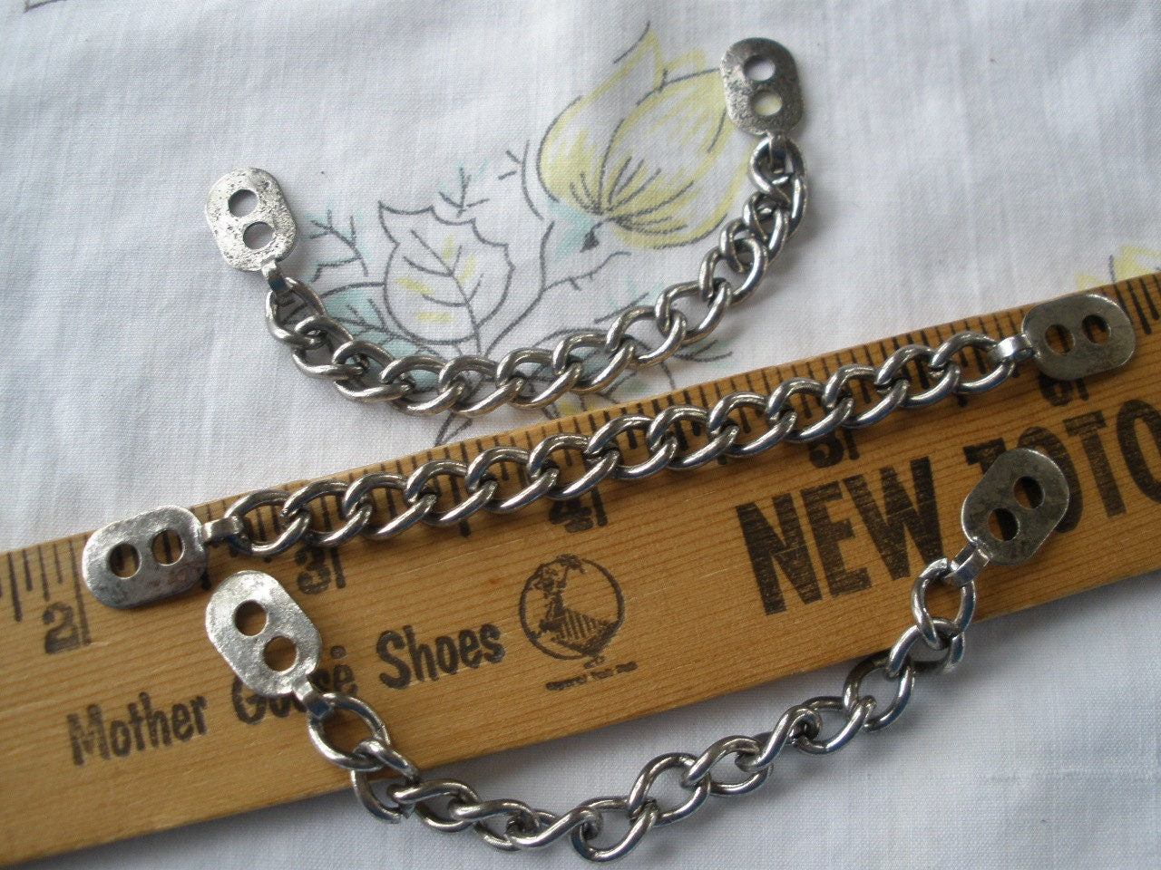 Coat Chain Hanging Loop Vintage Findings Silver Color Metal
