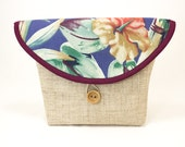 BIcycle Handle Bag with Hibiscus Floral