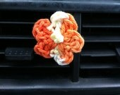 Crocheted Flower Diffuser Clips
