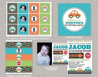 Cars Birthday Party, Cars Birthday Decorations, Cars Birthday, Cars Party, Transportation Birthday, Transportation Party, Printable Party