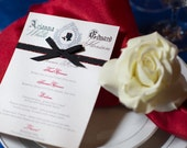 Snow White Wedding Menu - Snow White Inspired Wedding