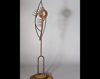 metal garden sculpture, MADE TO ORDER, container garden, metal plant stake, abstract garden art, rusty metal garden art