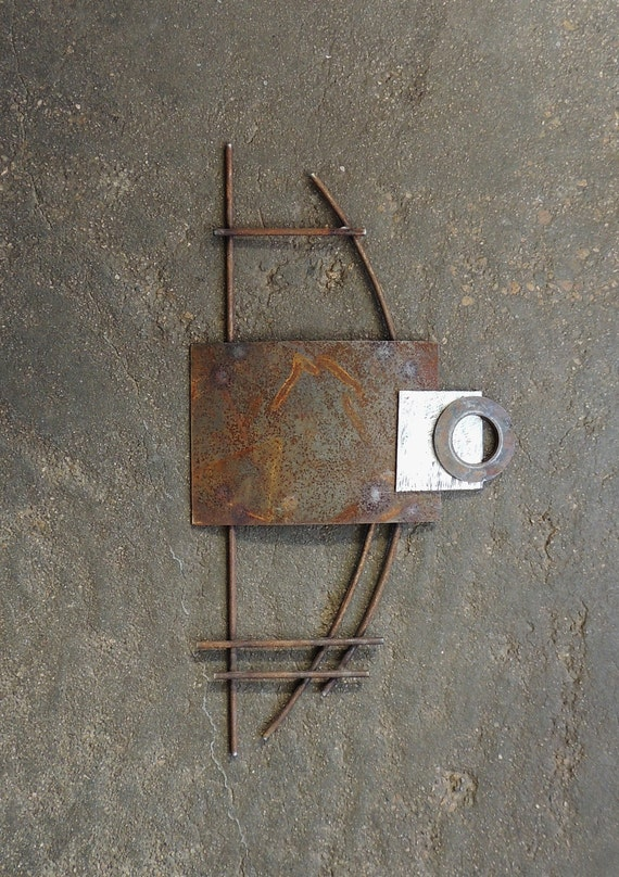 Metal Sculptures And Art Wall Decor: Industrial Wall Sculpture Modern Steel Wall Art Metal Wall