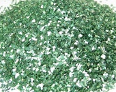 glass glitter green chunky bling DIY embellishment 1 ounce weight /  2 tbsp volume craft projects scrapbooking decoden recollections brand
