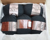 Yarn Sale.  Outlaw brand yarn.  5 matching skeins.  Slate blue/Gray