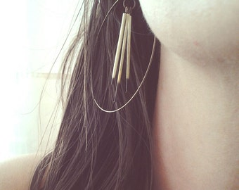 Porcupine Quill Hoops