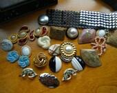 28 Piece Jewelry Lot Destash , Craft Supplies Vintage Jewelry
