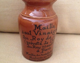 French vintage Maille mustard pot
