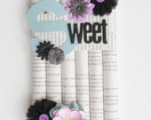 Decorative wall hanging- Purple and Black- Sweet- READY TO SHIP