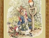 PETER RABBIT  Fine Art Print - Vintage Beatrix Potter Reproduction