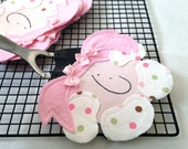 Pink Appliqué Retro Style For Quirky LIttle Girls Retro Style LIttle Hotcakes Series