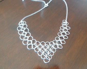 Handmade Chainmaille Circlet in Silver tone