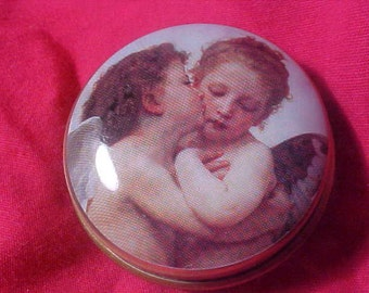 Cherubs Chambers Candy Tin  vintage angeles 90s 80s Rare Cherubs