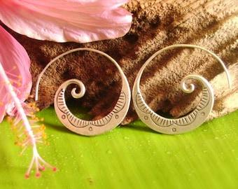 Fine Silver earrings-The Silver One (10)
