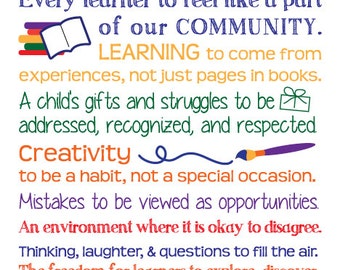 I wish for ... learning - classroom poster