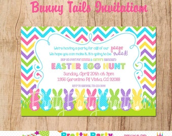 BUNNY TAILS Easter invitation - YOU Print