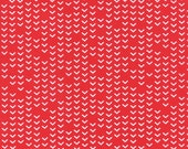 LAST PIECE Fat Quarter Airmail On Track in Love Red, Eric and Julie Comstock, Moda Fabrics, 100% Cotton Fabric, 37105 13