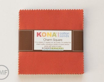 Kona Cotton 2014 New Colors Charm Pack, 5 Inch Charm Squares from Robert Kaufman Kona Cotton Solids, CHS-236-42