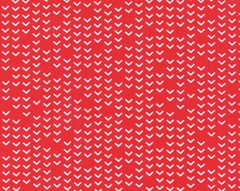 Airmail On Track in Love Red, Eric and Julie Comstock, Moda Fabrics, 100% Cotton Fabric, 37105 13