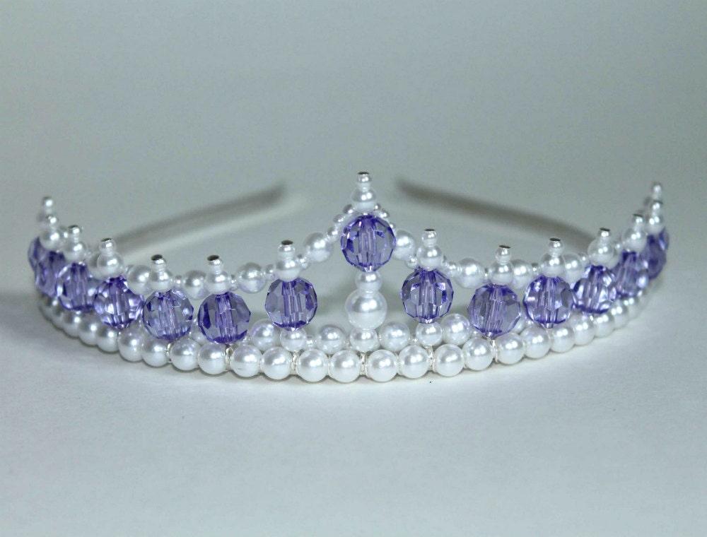 Pretty Purple Princess Tiara Birthday Tiara Flower Girl
