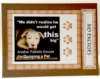 Pathetic Excuse Shelter Dog        Set of 2 Greeting Cards