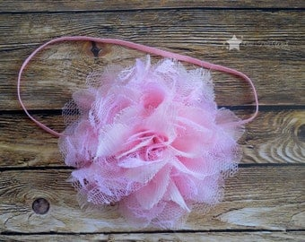 Infant headbands, baby girl, elastic headband, baby headband, infant headband, infant girl, newborn headbands, baby elastic headband, pink