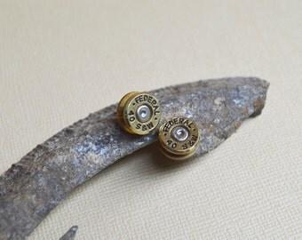 Bullet Earrings ~ Smith & Wesson 40 Caliber Casings Post/Stud Earrings