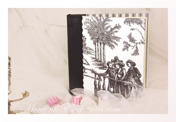 Wedding guest book note book secret book or guest book toile de jouy