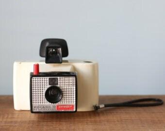 Vintage White Bodied Polaroid Swinger Land Camera Model 20