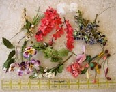 HALF PRICE - VINTAGE millinery floweres fruits for doll hats bonnets sewing decorating craft women's fashion