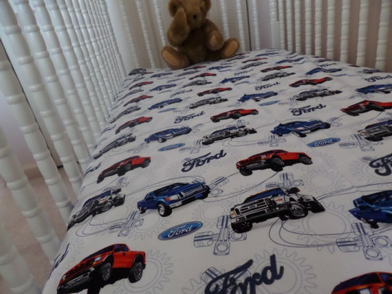 Ford Truck Baby Toddler Crib Bed Fitted Sheet