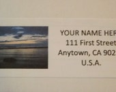 Ocean Beach at Sunrise Return Address Label