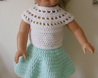 American Girl, Gotz doll clothes - hand crocheted  18 inch doll
