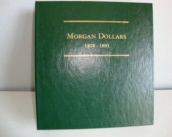 Littleton Coin Album * Morgan Dollars 1878 - 1891 *
