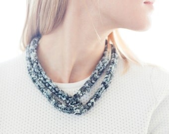 Intertwined Knitted Fabric Necklace - SALE