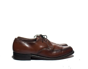 7.5 D | VTG Brown Leather Men's Derby Dress Shoes